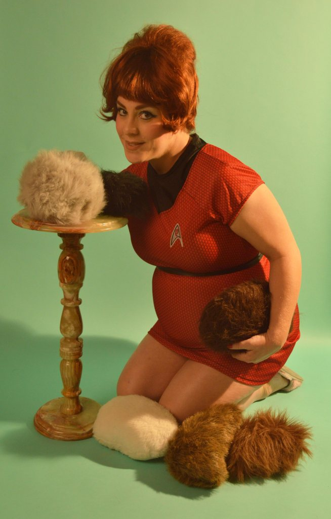 Petting my tribbles.