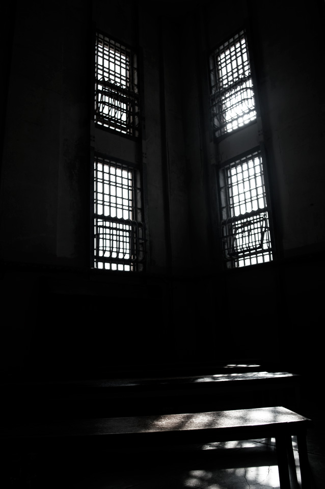 This was the library. I bet you could sit there for hours and wonder why you screwed up so bad you ended up at Alcatraz.